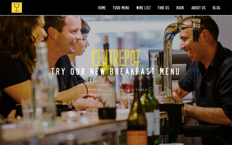L'Entrepôt website.