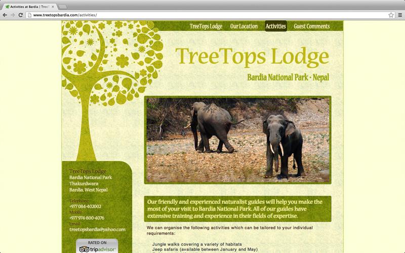TreeTops Lodge website.